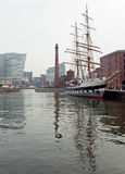 Tall ship in liverpool Stock Photos