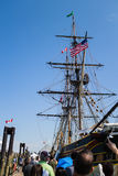 Tall ship at maritime fest Royalty Free Stock Photo