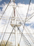 Tall Ship Mast. Mast and rigging of a tall ship Stock Image