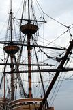 Tall Ship Mast. Against blue sky royalty free stock images