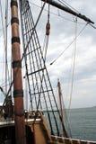 Tall Ship Mast. Tall ship's mast and rigging royalty free stock photos