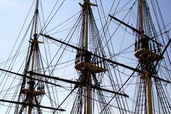 Tall Ship Mast. Close-up of ship's mast stock photo
