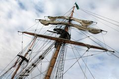 Tall ship mast and rigging Royalty Free Stock Photography
