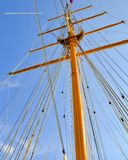 Tall Ship Mast. Mast and rigging of a tall sailing ship Royalty Free Stock Images