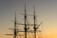 Tall ship mast Stock Photography