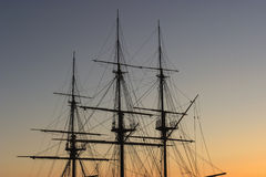 Tall ship mast Royalty Free Stock Image