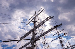 Tall ship masts Stock Photo