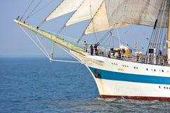 Tall ship MIR on open sea Royalty Free Stock Photo