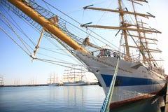 The tall ship Mir. Sochi, Russia, on May 16, 2014:Mir tall ship during a sailing regatta in Sochi royalty free stock image