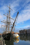 Tall Ship. Moored in GloucesterDock Stock Photo