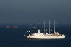 Tall ship - Paros royalty free stock photos