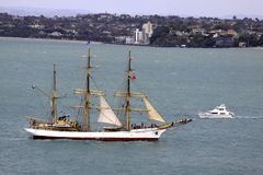 Tall Ship Picton Castle in Auckland Stock Photos