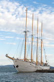 Tall Ship in pier. Tall ship in a harbour stock photography