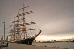 Tall ship in port Royalty Free Stock Photo
