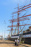 Tall ship in port Stock Images