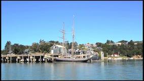 Tall Ship - R.Tucker Thompson Bay of Islands New Zealand Stock Photo
