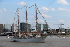 2016 Tall Ship Race, Antwerp Belgium. Royalty Free Stock Photos