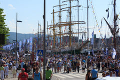 Tall Ship Races Bergen Royalty Free Stock Image