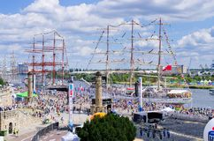 The Tall Ship Races in Szczecin royalty free stock photography