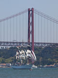 Tall Ship regata in Tagus river Royalty Free Stock Image