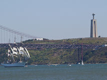 Tall Ship regata in Tagus river Stock Images