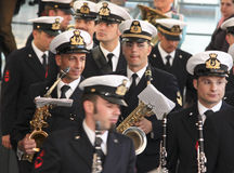 Tall Ship Regatta 2010. A detail during the concert of bandwidth of the Italian Navy before the regatta. Date: April 10, 2010 Stock Photography