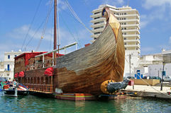 Tall ship-restaurant in Bizerte, Tunisia Royalty Free Stock Photography