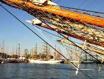 Tall ship rigging Stock Photography