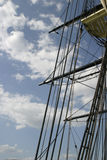 Tall Ship Rigging. Rigging of the Friendship of Salem Royalty Free Stock Images