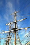 Tall ship rigging. Royalty Free Stock Photo
