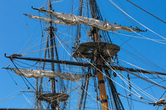 Tall Ship Rigging Stock Photo