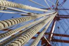 Tall Ship Rope Rigging Royalty Free Stock Image
