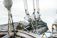 Tall ship sail rigs Stock Photo