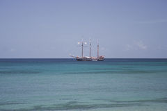 Caribbean tall ship Stock Image