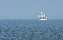 Tall ship sailing offsore Royalty Free Stock Photos