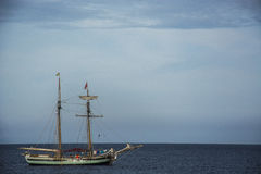 Tall ship. With sails down Royalty Free Stock Photos