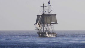 Tall ship. Sails in Southern California during a sailing event