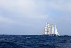 Tall ship in the sea Stock Images