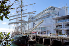The tall ship Spirit of New Zealand royalty free stock photography