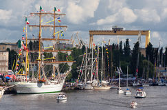 Tall Ship in Szczecin Stock Photo