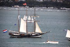 Tall Ship Tecla in Auckland royalty free stock photo