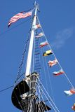 Tall Ship. The top of a tall ship from the USA stock images