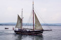 Tall ship in Weymouth. Tall ship weymouth old interesting royalty free stock photos