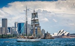 Free Tall Ship With Sydney Opera House In Background Royalty Free Stock Images - 126349189