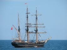 Tall ships. In the sea Royalty Free Stock Photo