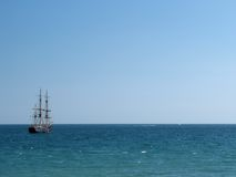 Tall ships. In the sea Royalty Free Stock Photos