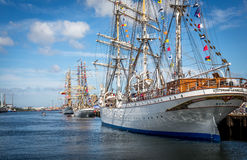 Tall ships in Belfast Ireland Royalty Free Stock Images