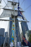 Tall ships at canary wharf in London Royalty Free Stock Images