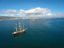 Tall ships. Dublin Riverfest 2017. Ireland royalty free stock photography