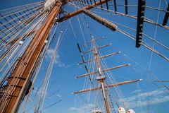 Tall Ships event. Is a big nautical event where big majestic ships with sails are presented to the public for visitation Stock Images